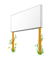 blank billboard on wooden column vector image