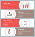 Flat Design Concept Set of Web Banners Blood Test vector image vector image