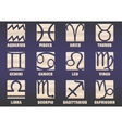 Set of twelve horoscope zodiac signs vector image