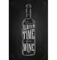Poster time for wine chalk vector image vector image