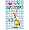 An easter greeting with a bunny vector image