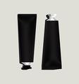 Black aluminum tubes for packaging vector image