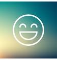 Cheerful emoji thin line icon vector image