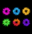 Colourful explosion for holi set vector image