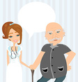 consultation with the doctor vector image