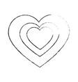 cute big heart vector image