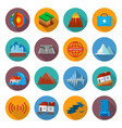 earthquake damage icon set vector image