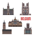 Historic buildings and architecture of Belgium vector image