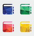 notepad icon Abstract Triangle vector image