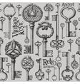vintage keys logo design template antiques vector image