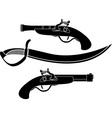 weapon of pirates stencil vector image