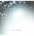 White defocused snowflakes on glow background vector image