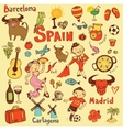 Spain icons collection vector image