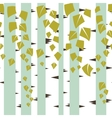Seamless texture with green trees of birch vector image vector image