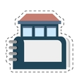 real estate directory book symbol cut line vector image