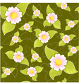 Seamless floral pattern on dark background vector image vector image