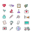 Set of Outline Medicine Icons vector image