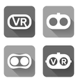 Set icons of virtual reality vector image