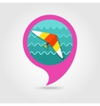 Hang Glider pin map icon Summer Vacation vector image