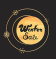advertising discount banner winter sale hand drawn vector image