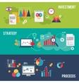 Business banner set vector image