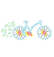 flower vintage bicycle vector image