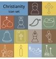 Jesus Christ icons set vector image
