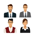 set men woman team work business vector image