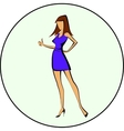 Business woman ok vector image