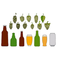 Beer colorful icons vector image