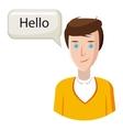 Male translator icon cartoon style vector image
