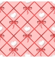 Seamless pattern with hearts and ribbons vector image