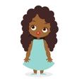 African American girl eps 10 vector image