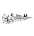 Clef music notes vector image vector image