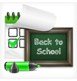 School blackboard and felt-tip pen vector image vector image
