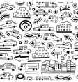 cars seamless background vector image