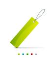 shopping tag vector image vector image