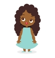 African American girl eps 10 vector image