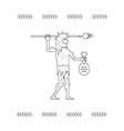 Paleo Man vector image