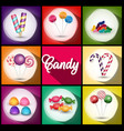 set of brochures with sweets vector image
