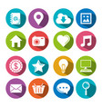 set of social media sign and symbol elements on vector image