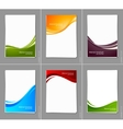 Set of wavy brochures vector image