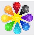 Set of color labels vector image