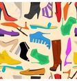 Seamless pattern of women shoes vector image