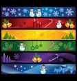 chrsitmas banners vector image vector image