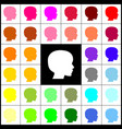 people head sign  felt-pen 33 colorful vector image
