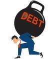 Overwhelming debt vector image