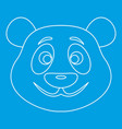 Panda bear icon outline style vector image