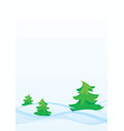 winter firs vector image vector image