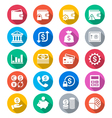 Financial management flat color icons vector image vector image